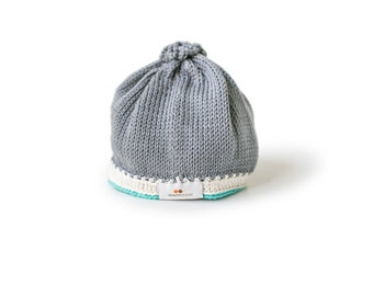 Signature Baby Hat: Stone Teal