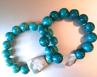 Turquoise Natural Stone Beaded Bracelets