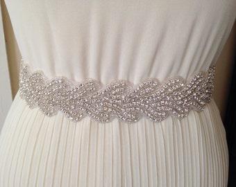 Bridal belt wedding belt bridal satin sash wedding sash crystal sash wedding dress jeweled belt rhinestone sash rhinestone belt