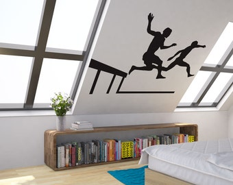 Track And Field Athletes Vinyl Wall Art Decal