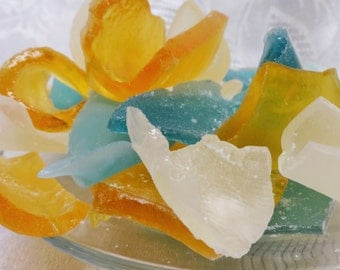 Sea Glass Candy 1 lb - Ocean Theamed Wedding Bridal Favors / Cake Topping / Beach Party - Your choice of flavors and colors