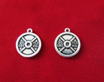 """2pc """"weight"""" charms in antique silver style (BC459)"""