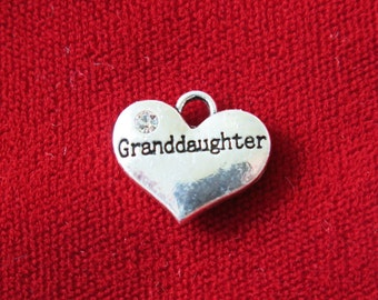 "BULK! 15pc ""Granddaughter"" charms in antique silver style (BC703B)"