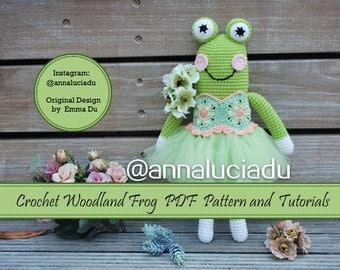 crochet frog, crochet toys ,Amigurumi Frog Pattern, Crochet Frog Pattern, Frog Pattern, Frog Crochet Tutorial, Frog PDF Pattern,