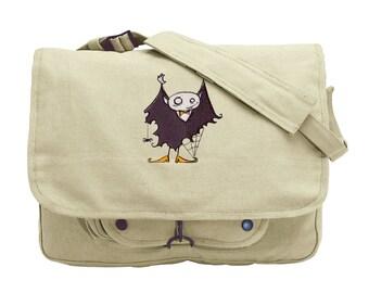 I Vant You, Dead or Alive Embroidered Canvas Messenger Bag