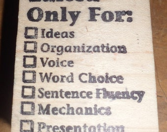 """2"""" x 1.5"""" Edited Only For: Ideas Organization Voice Word Choice Checklist Stamp Crafting Supply Scrapbooking Pre-Owned"""