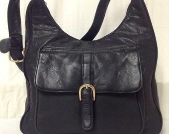 Brio large leather purse, Black, Leather, Shoulder Bag,bags,purses
