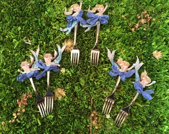 Mermaid Princess Appetizer and Dessert Forks