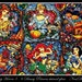 Disney Heroes 9 - 6 Princess stained glass - Cross stitch pattern - Instant Download!