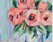 "Bright Blooms, 13""x ..."