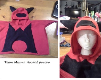 Team Magma character hooded poncho