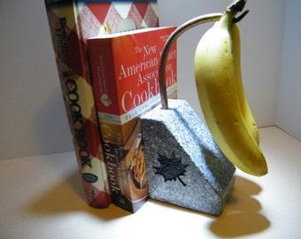 Banana Holder,Bookend Design, Granite Banana Holder