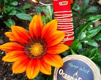 OrganicFlame -Hemp Wick Organic Lighter & fire starter -