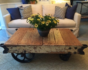SOLD!!! Original Factory Cart Coffee Table