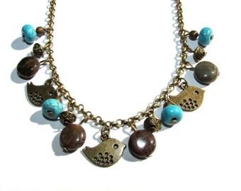 Boho Jewellery Bohemian jewellery Beaded necklace Charm necklace