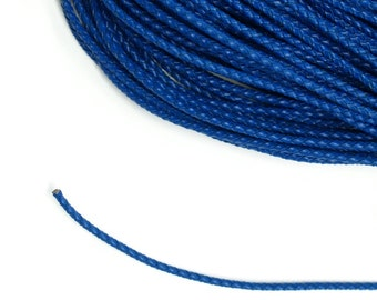1 Metre x 3mm Royal Blue Braided Leather Cord