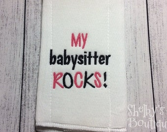 2 Babysitter Embroidery Designs -INSTANT DOWNLOAD-