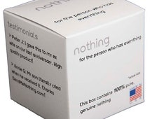 The Nothing Box / Gag Gift Box , gag gifts, joke items, fake gift boxes, unique gift boxes, gift box, unique gifts