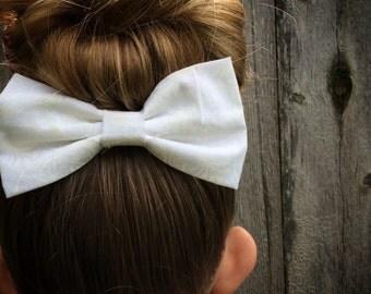 White Paisley Bow