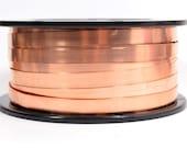 Copper Bezel Wire - 3/16 Inch - 24 Gauge - Choose Your Length