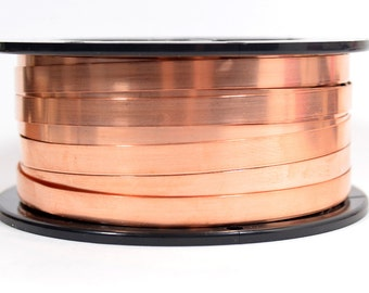 Copper Bezel Wire - 3/16 Inch - 24 Gauge - Choose Your Length