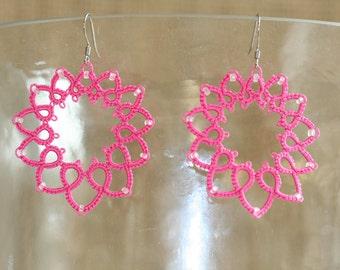 Earrings, Tatted Earrings, Tatted Jewelry