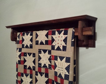 Quilt rack, black walnut and personalized.