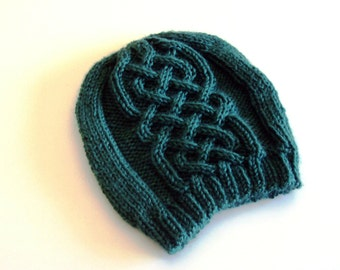 Celtic cables toddler knitted hat - Knit toddler hat - Cabled knit hat - Celtic toddler hat - Irish hat