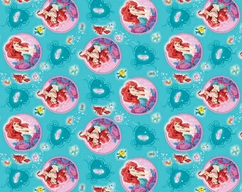 Disney Little Mermaid Ariel Badge Fabric