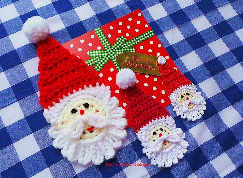 Christmas applique pattern santa crochet pattern crochet zoom bankloansurffo Image collections