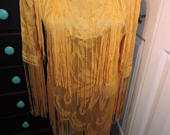Yellow Fringe Top Size Small