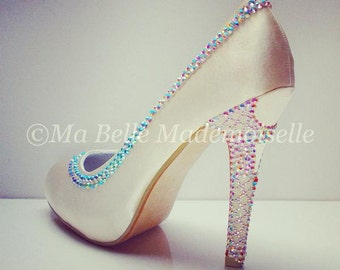Crystal Eiffel Tower Shoe's