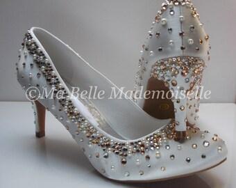 Crystal Drops Wedding Shoe, Bridal Shoes, Wedding pumps, Bridal pumps