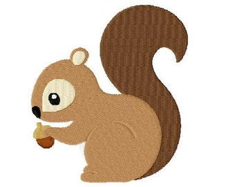 Embroidery Design Squirrel 4'x4' - DIGITAL DOWNLOAD PRODUCT