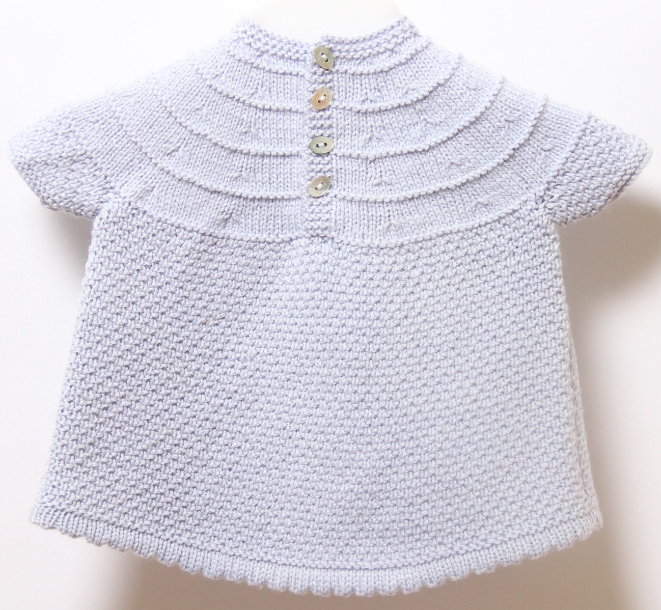 Baby Knitting Patterns With Instructions : Baby Dress / Knitting Pattern Instructions in English ...