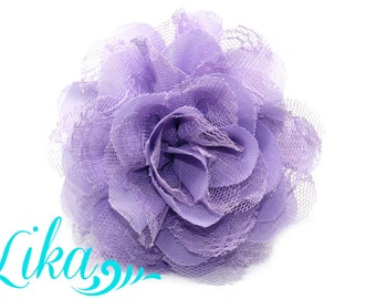 Lavender Lace Flower - Chiffon Flower - Lace rose - Shredded Lace Flower - Wholesale - Supply - DIY- 3.75 inch - Lavender Flower