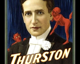 "11 x 14"" canvas art print.  Thurston_the_Great_Magician"