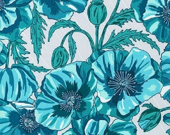 ON SALE - 1/2 Yard - In the Bloom - AVW-15251-81 - Turquoise - Valori Wells - Robert Kaufman Fabrics - Fabric Yardage