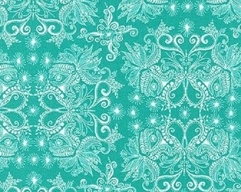 ON SALE - 1/2 Yard - In the Bloom - AVW-15254-81 - Turquoise - Valori Wells - Robert Kaufman Fabrics - Fabric Yardage