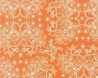 ON SALE - 1/2 Yard - In the Bloom - AVW-15254-146 - Mango - Valori Wells - Robert Kaufman Fabrics - Fabric Yardage