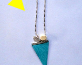 "NECKLACE silver necklace ""Summer"" turquoise triangle"