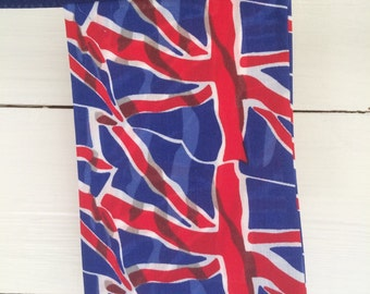 Union Jack / Union Flag Red White & Blue Square Cotton Bunting