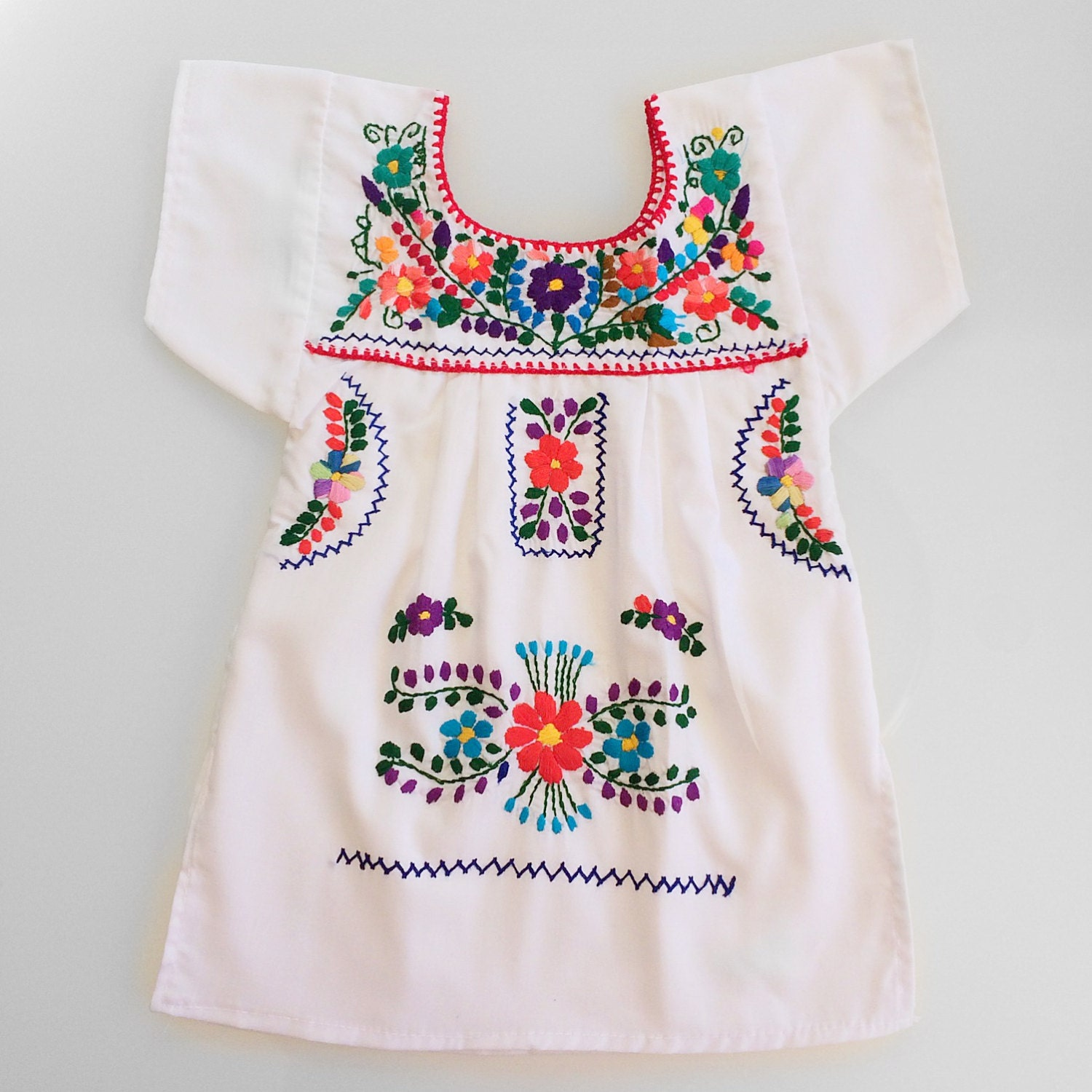 Mexican embroidered dress infant through size by