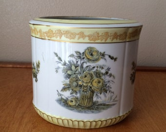 White, Gold and Yellow Victorian Vase from ESCO