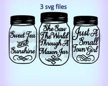 3 mason jar svg files samantha font