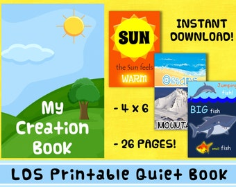LDS Printable Creation Quiet Book