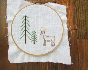 Deer Hand Embroidery Pattern