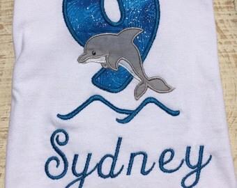 Dolphin Birthday Shirt - Dolphin Shirt - Dolphin Birthday