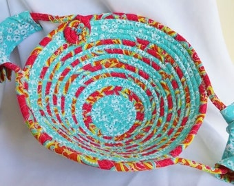 Coiled Fabric Egg Basket/ Bowls #143