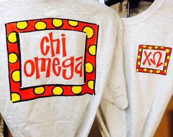 Chi Omega T-shirt {size S}
